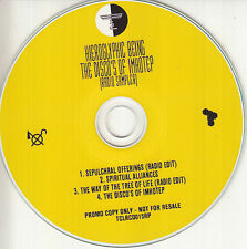 HIEROGLYPHIC BEING Disco's Of Imhotep Radio Sampler 2016 UK 4-trk promo test CD