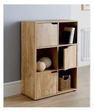 6 TORINO in rovere cubo legno finitura Satin Scaffale Scaffalature Books giocattoli salotto Unità di memorizzazione