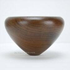 Wood Bowl Gene Pozzesi Turned Myrtle Wood Thin Woodturner Signed Woodturning