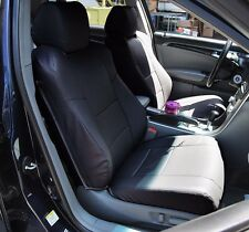 ACURA TL 2004-2008 BLACK LEATHER-LIKE CUSTOM MADE FIT FRONT SEAT COVER
