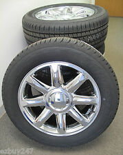 "20"" GMC YUKON DENALI NEW FACTORY STYLE CHROME WHEELS 5304 BRIDGESTONE TIRES"