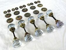 OUSTANDING! 5 Pairs of High Quality Antique Glass Door Knobs and Hardware Purple