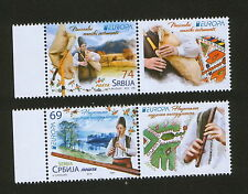SERBIA-MNH** SET+LABELS-EUROPA CEPT-NATIONAL MUSIC  INSTRUMENTS-2014.