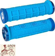 ODI ELITE PRO LOCK-ON LIGHT BLUE W/ BLUE CLAMPS BMX-MTB BICYCLE GRIPS