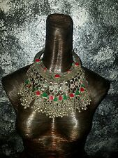 Exotic Vintage Kuchi Belly Dance Ethnic Statement Necklace Tribal BOHO SEDUCTIVE