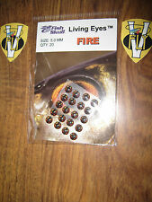 New Packet of 20 Premium Fish Skull Fly Tying Living Eyes 5mm Fire