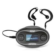 PSWP26BK Waterproof Sport Headphones MP3 Player 8GB Black Color Bundle