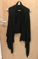 Rick Owens Women Black Wrap Waistcoat Sleeveless Top All Size XS 6 8 10 Saints