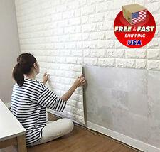 Peel and Stick 3D Wall Panels for TV Walls Sofa Background Art Wallpaper White