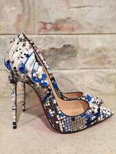 NIB Christian Louboutin So Kate 120 Python Snake Vulcano Blue Heel Pump 36 $1495