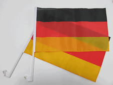 GERMANY / GERMAN CAR WINDOW FLAG - 2 PACK NEW