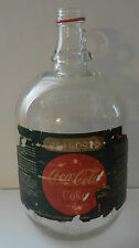 Vintage Coca Cola Glass Jug Jar Bottle Syrup 1 Gallon