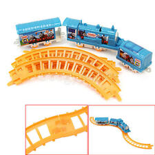 1 Set Thomas Battery Powered Electric Train Rail Children Kids Assembly Toy