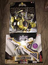 NIB MIGHTY MORPHIN POWER RANGERS LEGACY FALCONZORD & LIMITED BLACK DRAGONZORD