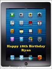 Ipad Personalised Edible Icing Birthday Cake Topper A4