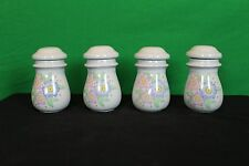 Vintage Decorative Collectible SJL Ceramic Spice Canister Set Of Four 4 Antique