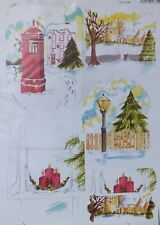Craft UK Christmas Die Cut Toppers # 2156 Postbox, Church, Lamp Light, Candles