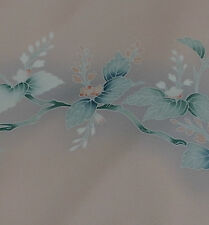 Japanese vintage kimono silk fabric Branch of Kiri Flower