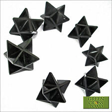 1 x Nuummite Crystal Merkaba Merkabah Star Attunes to Deep Earth Energy 20mm