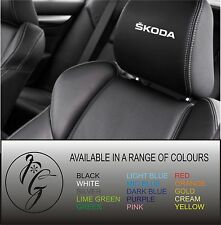 5 skoda car seat head rest decal sticker vinyl graphic logo badge free post