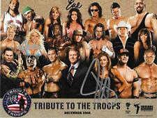 WWE TRIBUTE TO THE TROOPS SIGNED 8X11 PROMO VINCE MCMAHON, JOHN CENA, EVE REY