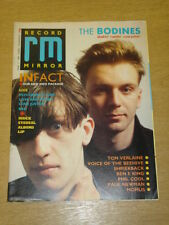 RECORD MIRROR 1987 MARCH 7 THE BODINES TOM VERLAINE