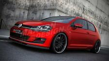 FRONT SPLITTER (TEXTURED) FOR VW GOLF VII (FOR STANDARD BUMPER)