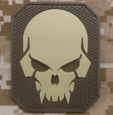 PIRATE SKULL 3D PVC MILITARY BADGE US ARMY DESERT VELCRO® BRAND FASTENER PATCH