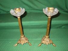Coppia candelieri bronzo grappoli uva. Francia Secolo XIXXX h. cm. 26 V3 (*)