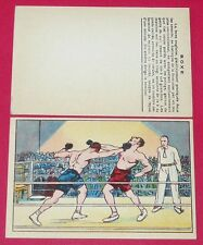 1920-1930 CHROMO GRANDE IMAGE ECOLE BON-POINT SPORTS BOXE BOXING