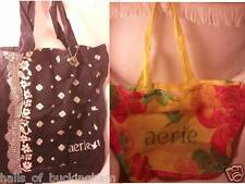 2 aerie American Eagle Totes Yellow Floral Navy Blue Bandana Bags FREE Body Mist
