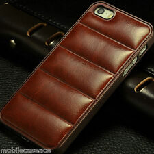 NEW LEATHER BACK BUMPER SHELL CASE COVER FOR APPLE IPHONE 5 5S 6 6S SE