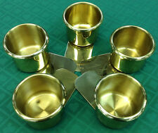 DRINK HOLDERS - 5 POKER BJ BRASS SLIDE UNDER FOR CAN BOTTLE - FREE SHIPPING *