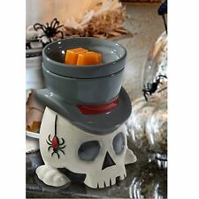Full Size Wax Warmer Scented Melts Electric Candle Ceramic Skull Plug In Tarts
