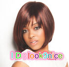 New Charm ladies short mix red Brown cosplay wigs+ wig cap