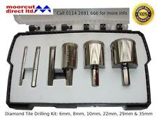 Diamond Tile Drilling Set 6-35mm for porcelain, granite, marble, slate & glass