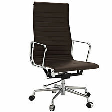 eMod Eames Style Office Chair High Back Executive Replica Dark Brown Leather
