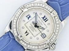 Breitling Galactic cabina Ladies Diamond Watch A71356 Acero Inoxidable Reloj
