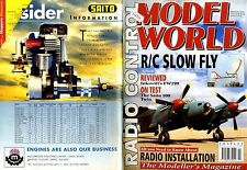 RADIO CONTROL MODEL WORLD MAGAZINE 1996 FEB GLOBAL SKYRAIDER, SAITO 100 TWIN
