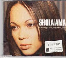 (EK712) Shola Ama, You Might Need Somebody - 1997 DJ CD