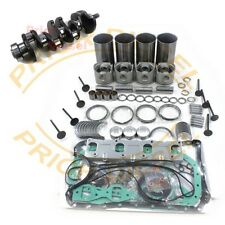 ISUZU 4JB1 Overhaul Kit&Crankshaft Mustang Bobcat 843 853 1213 960 2060 Loader