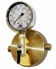 "2-1/2"" NST Fire Hydrant Static Pressure Gauge with Bleeder valve 300Psi"