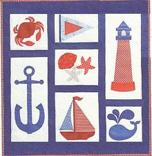 ~ FUN NEW  PATTERN ~ NAUTICAL THEME QUILT / WALL HANGING  ~ APPLIQUE TECHNIQUE ~