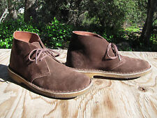 Clarks Brown Suede Bushacre Chukka Ankle Desert Boots Shoes  - Women's Size 8 M