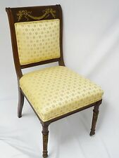 ANTIQUE LATE 19c EARLY 20c FRENCH EMPIRE STYLE CHAIR w/ BRONZE MOUNTS