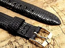 Vintage Genuine Lizard Leather NOS Accutron Bulova Watch Band 18mm X Long 6 3/4