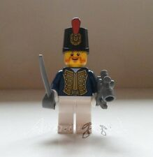 !! Genuine New Lego Pirates Minifig Bluecoat Admiral With Cutlass and Sextant !!