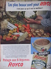 PUBLICITÉ 1956 ROYCO POTAGE AUX 6 LÉGUMES - ADVERTISING