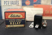 Vintage NOS Electra High Efficiency Head Light Relay LR-71 with Instructions