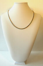 Yellow Gold Necklace Snake 2-Tone Choker Chain Womens Girls 18in 9k